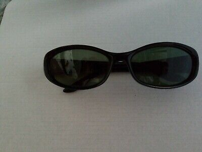 GUCCI VINTAGE SUNGLASSES 2456/S GLOSS BLACK FRAME W/ G15 lens Preowned