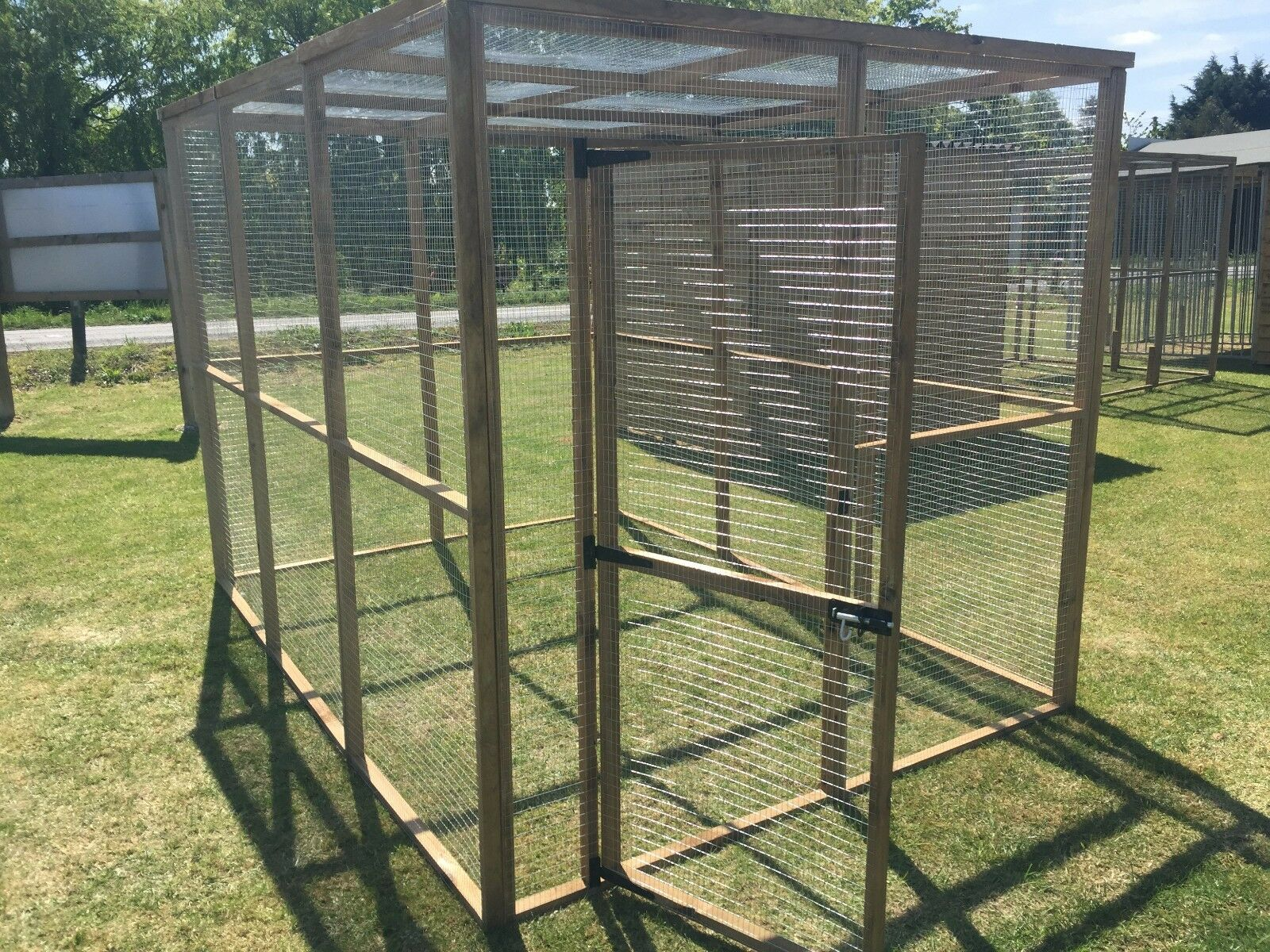 Animal Dog Enclosure Run With Roof 6ft X 9ft Puppy