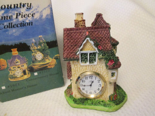 Country Time Piece Surgeon`s House  Collectible Resin Figurine with Clock NIB