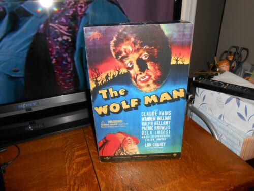 """2001 SIDESHOW UNIVERSAL STUDIOS MONSTERS WOLFMAN 12"""" LON CHANEY BRAND NEW FREE S"""