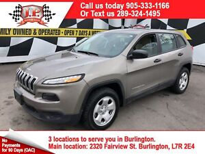 2017 Jeep Cherokee Sport, Automatic, Back Up Camera, 4*4,