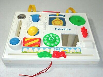 VINTAGE 1988 Fisher Price Activity Center Busy Box Baby Crib Toy