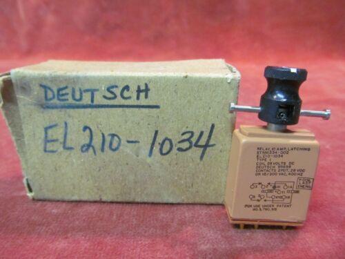 NEW OLD STOCK DEUTSCH 10A LATCHING RELAY EL210-1034 2PDT