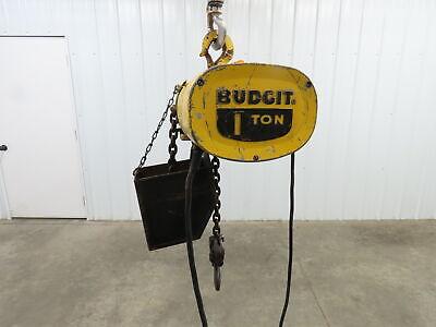 Budgit 1 Ton 2000lb Electric Chain Hoist 14 6 Travel 120v Single Phase 8fpm