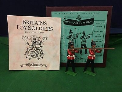 Lovely Britains Sherwood Foresters ''Two Standing'' Toy Soldiers 8814 RD8809