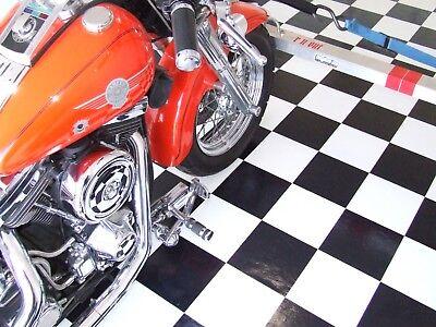 8'x 12' ROLL Trailer Floor Black & White Checkered Checkerboard Vinyl Flooring  - Black And White Checkerboard Floor