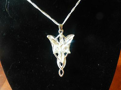 Lord of the Rings Arwen Evenstar Pendant Necklace - US SELLER FREE (Lord Of The Rings Arwen Evenstar Pendant Necklace)
