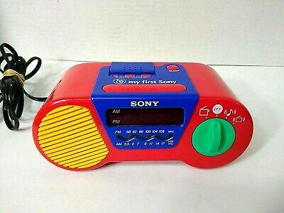 My First Sony Childrens AM FM Alarm Clock Radio Model ICF C6000 Vintage 1994