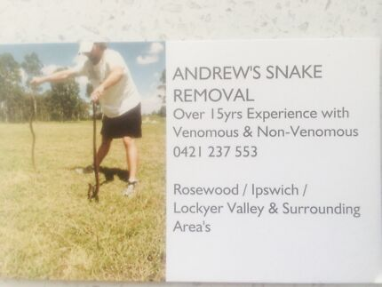 ANDREWS SNAKE REMOVAL Ipswich Ipswich City Preview