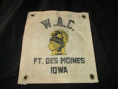 Wwii Us Army W A C  Ft Des Moines Iowa Womens Army Corp Wall Flag