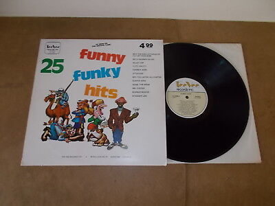 LP VINYL - VARIOUS ARTISTS - 25 FUNNY FUNKY HITS - STEREO - CANADA PRESS