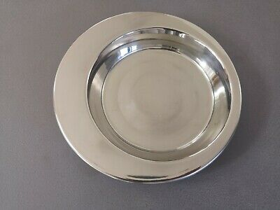 Small Shallow Stainless Steel Bowl Cat Kitten Kitty Food or Water Dish