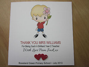... Handmade Thank You Teacher, Teaching Assistant, Nursery Card | eBay