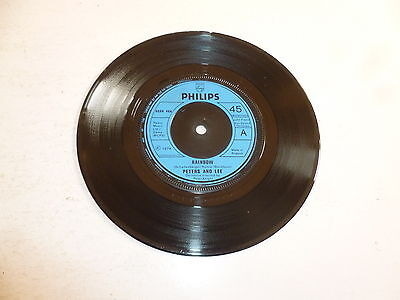 """PETERS & LEE - Rainbow - 1974 UK 7"""" injection moulded 2-track 7"""" vinyl single"""
