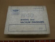OEM Ford 1968 Wiring Diagram Book Galaxie Fairlane Mustang ...