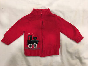 Osh Kosh Train Zip Sweater. Size 9 months.