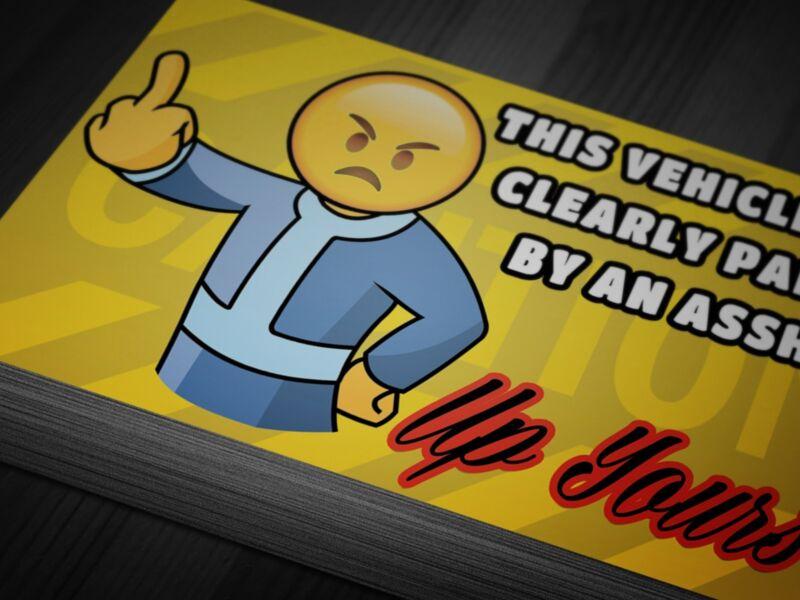 Suck at Parking Cards 100 Funny Insult Notes Joke Gift Prank Bad Driver Novelty