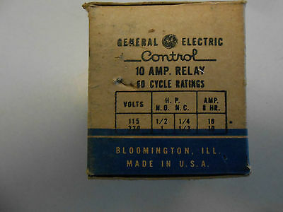 Ge 10 Amp Relay 60 Cycle Cr2790e100 115 Volt 2 Pole Single Throw