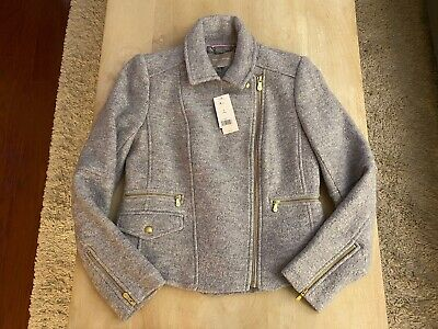 Banana Republic Grey Moto Jacket