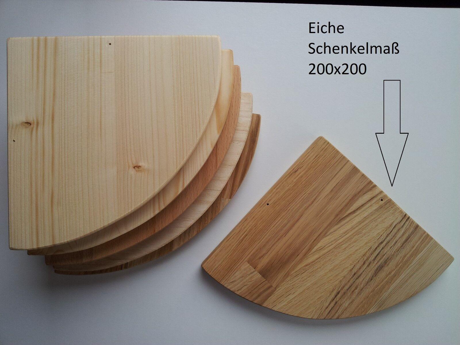 Eckregal Eiche  Massivholz Schenkel 400 x 400  mm