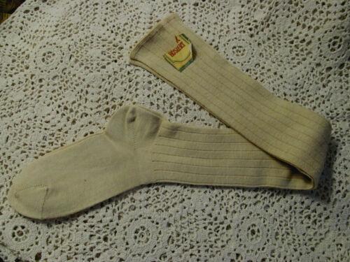 "Orig Tag~Vintage VALOR Hosiery Long Rib Knit Cotton Socks 7"" foot"