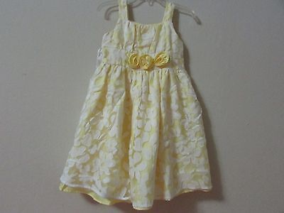 Flower Girl Dresses Yellow And White (Girls Yellow And White flower print Summer church wedding Dress Size)