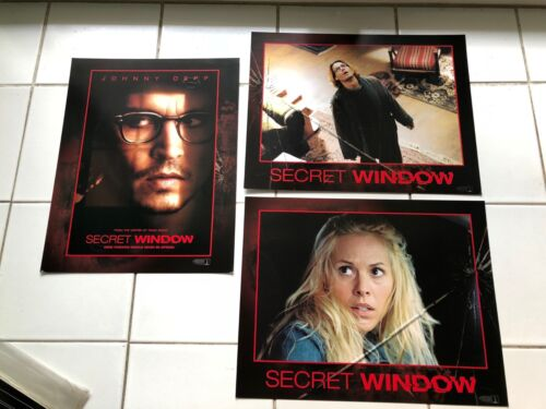 8 SECRET WINDOW 2004 movie original U.S. Lobby Card 11x14 set