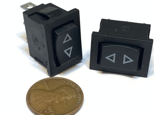 2 Piece Black Rocker Switch Momentary (ON) OFF (ON) spring On Off 3 Pin spst B27