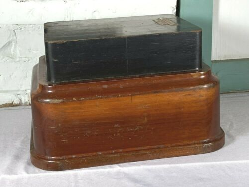 Unusual Vintage Wood Foundry Mold ~ Mid Modern LQQK, Display Base, Telephone?