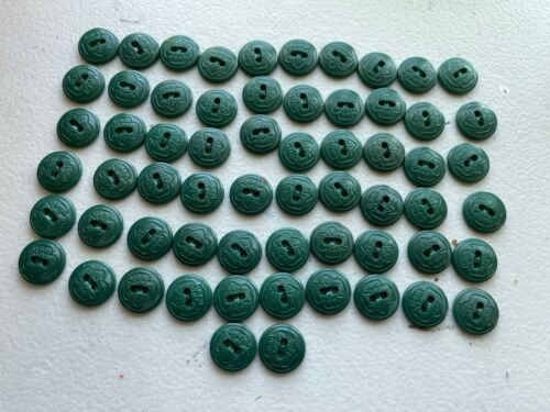 Vintage Set of 50+ Official Girl Scout Buttons Uniforms Juniors Green