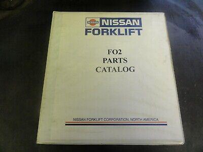 Nissan Model F02 Forklift Parts Catalog Manual