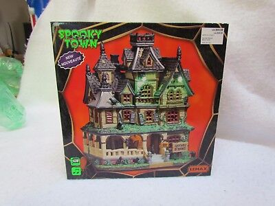 2017 Lemax Spooky Town Halloween Haunted Mansion in Original Box ~ New!