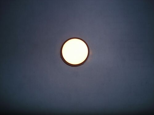 """DIALCO Dialight 1"""" White Panel Lamp Holder 75W 125V Smooth Lens Tube Amp"""