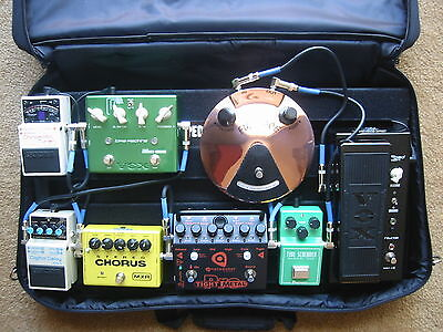 PEDALTRAIN PT-2-SC BOARD VOODOO LABS PEDAL POWER PLUS POWER SUPPLY & 8 PEDALS