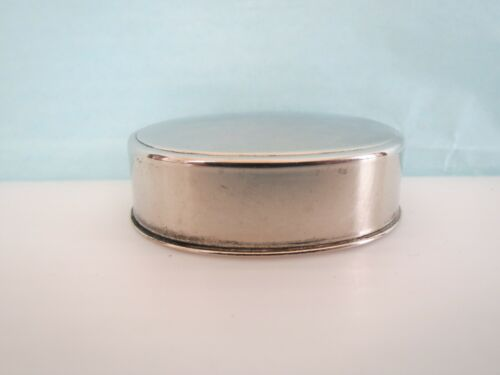 Vintage STERLING SILVER Lidded PILLBOX