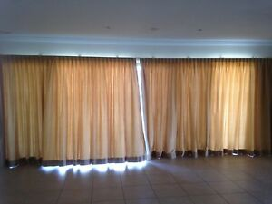 Gold floor length curtains Rockhampton Rockhampton City Preview