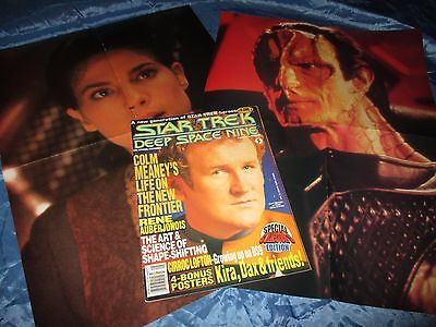 STAR TREK  , Deep Space Nine  # 5 , Film Magazin USA / Original , mit 2  POSTER