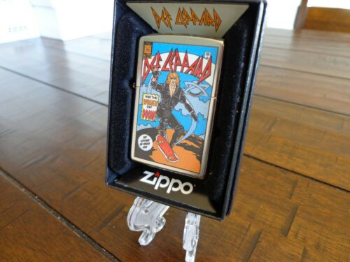 DEF LEPPARD AND THE WOMEN OF DOOM COMIC BOOK DESIGN ZIPPO LIGHTER MINT IN BOX