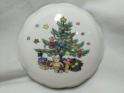 """Nikko Christmastime Lid Cover Top Only for 5"""" BonBon Candy Dish Japan Tree Toys ()"""