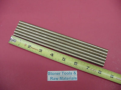 6 Pieces Of 14 C360 Brass Solid Round Rod 8 Long .250 Lathe Bar Stock
