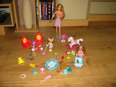 Barbie dolls bundle Barbie Kelly Shelly accessories and other