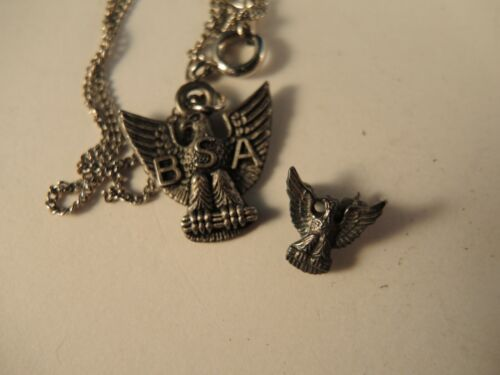 Boy Scout Eagle necklace and small Eagle pin