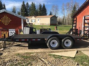 Car/bobcat trailer7000lb axles)going to auction may20