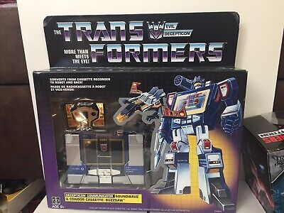 Transformers Vintage G1 Soundwave with Buzzsaw (Walmart Exclusive Reissue)