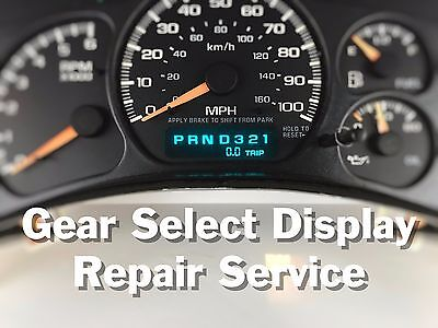 99 00 01 02 Chevy Truck / SUV Instrument Gauge Cluster Display REPAIR SERVICE
