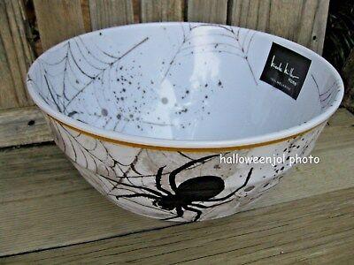 NICOLE MILLER SPIDER WEB SERVING BOWL CANDY SALAD HALLOWEEN MELAMINE Skid Proof - Halloween Salads