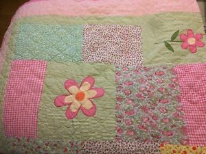 Twin size girls quilted bedding set and twin sheet sets