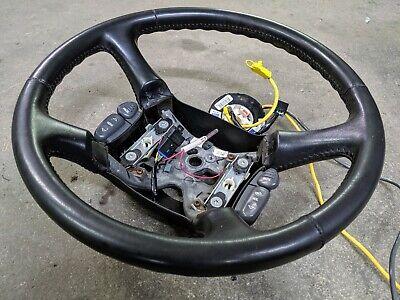 00-05 Chevy S10 Blazer OEM Leather Steering Wheel w/Radio Controls, Clock Spring