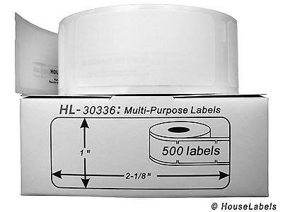 5 Rolls Of 500 Multipurpose Labels In Cartons For Dymo Labelwriters 30336