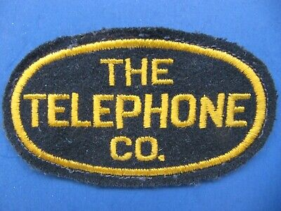 THE TELEPHONE CO. Cloth Embroidered Patch -Vintage NOS